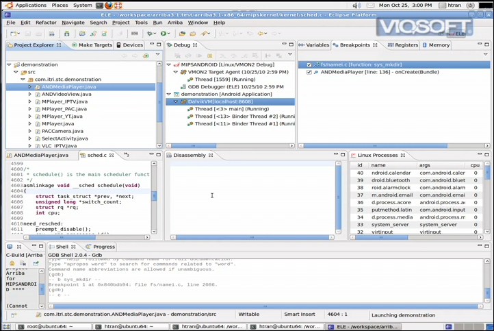 Viosoft Arriba Android Debugging Eclipse